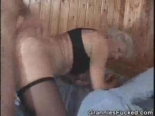 Люблю жопу бабушки ебля